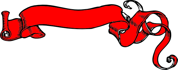 600x236 Red Banner Scroll Clip Art