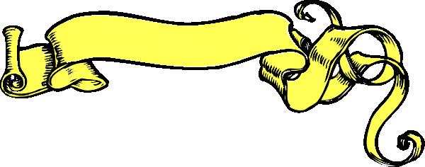 600x236 Yellow Scroll Banner Clip Art