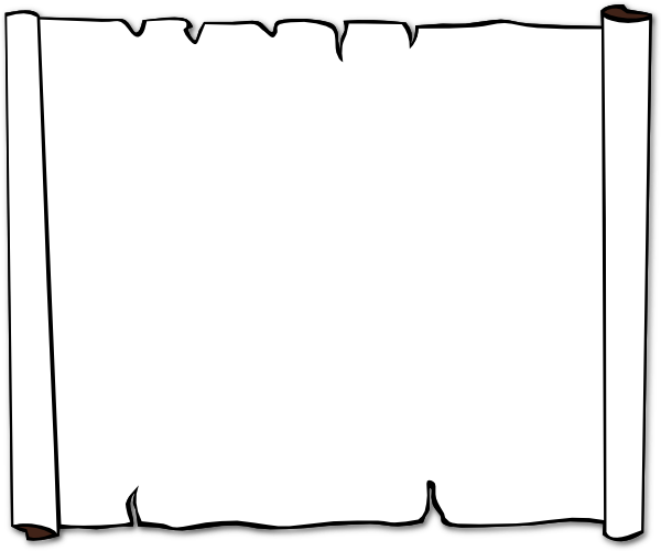 600x500 Black And White Scroll Clipart 2