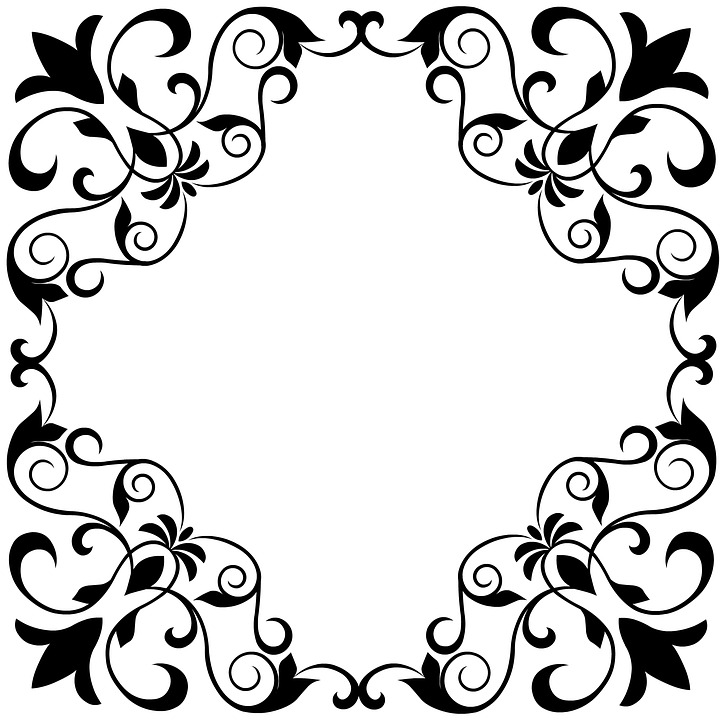 720x720 Free Photo Ornamental Black White Floral Royal Scroll Fleur