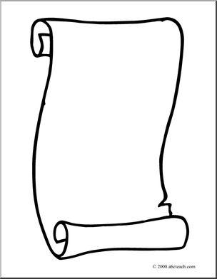 304x392 Free Scroll Clipart Clipartix