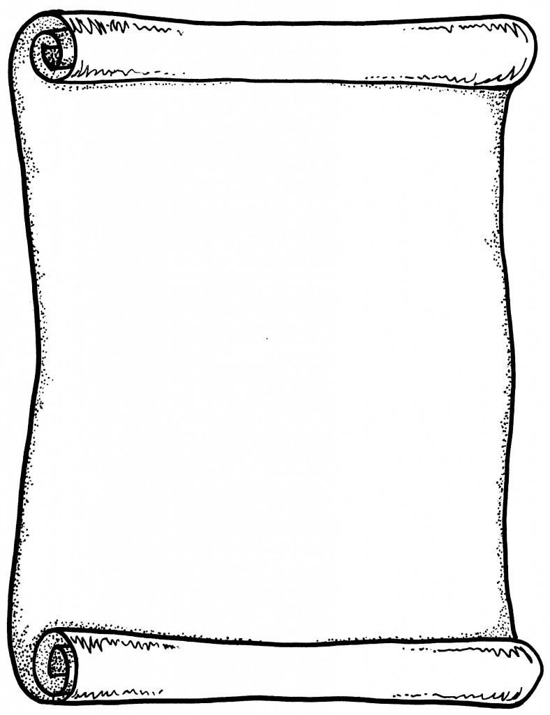 788x1024 Scroll Clip Art 5