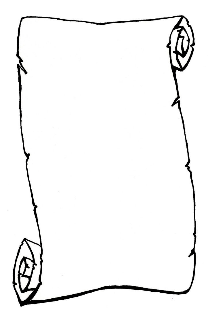 723x1104 Scroll Clipart Black And White