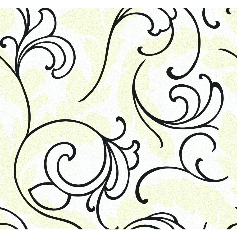 1000x1000 Black And White Scroll Wallpaper Serpentine Wallpapers Kargo