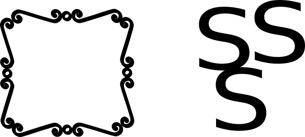 600x270 Scroll Border Clip Art