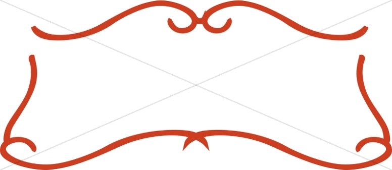 776x337 Simple Red Scroll Frame Religious Borders