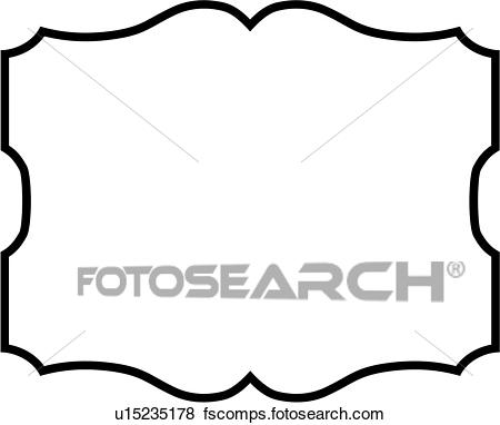 450x382 Clip Art Of , Basic, Blank, Border, Panel, Shapes, Scroll, Sign