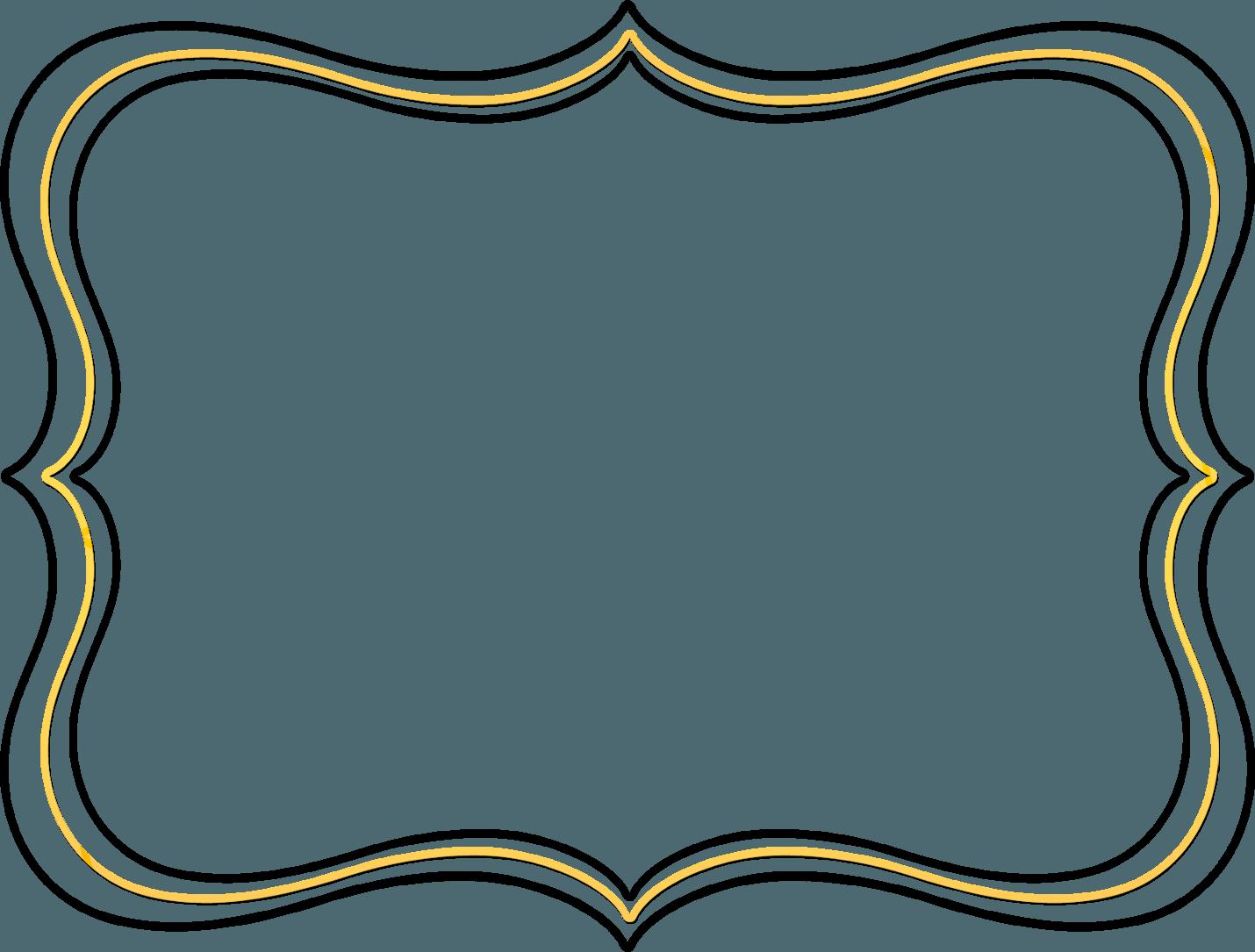 1430x1085 Black Scroll Border Clipart