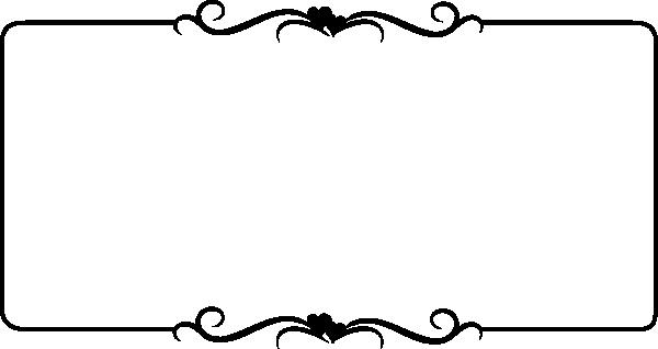 600x318 Black Scroll Border Clipart