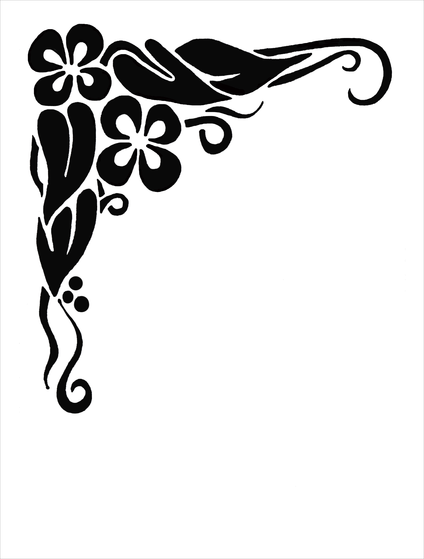 4400x5800 Colour Decorative Scrolls Clip Art Free