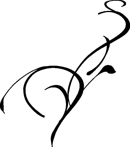528x595 Black Scroll Border Clipart