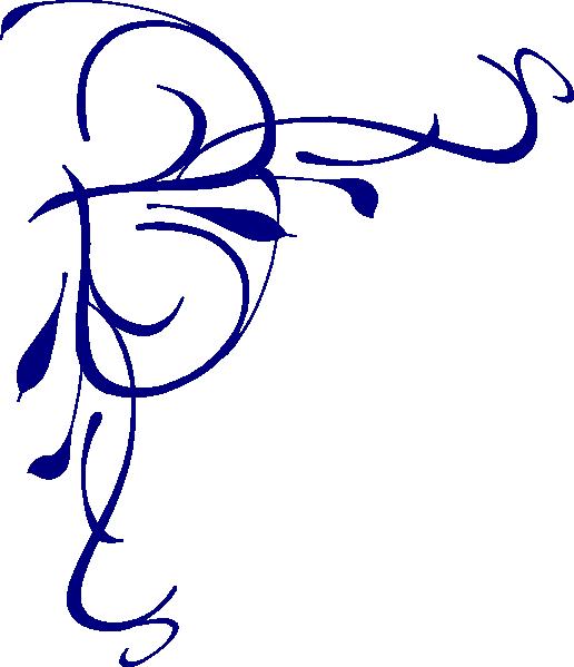 516x599 Blue Flower Border Clip Art Clipart Panda