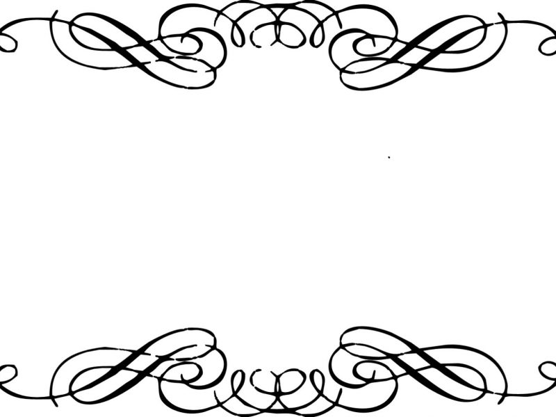 800x600 Classy Design Fancy Border Clip Art Corner Scrolls Clipart