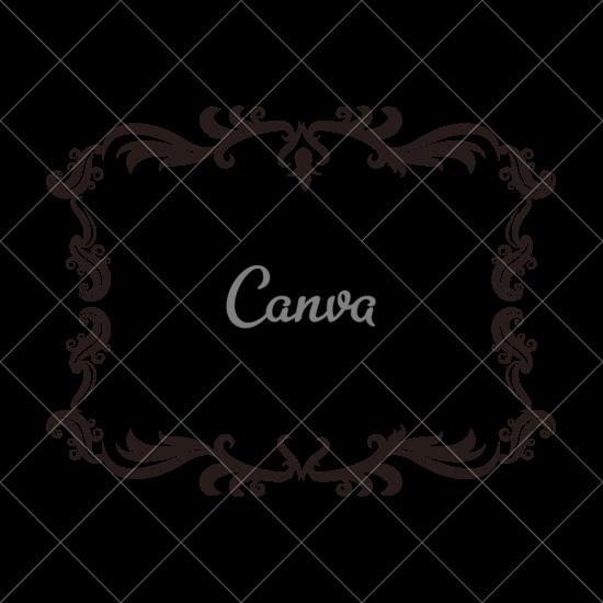 550x550 Vintage Baroque Frame Scroll Floral Ornament Border Retro Pattern