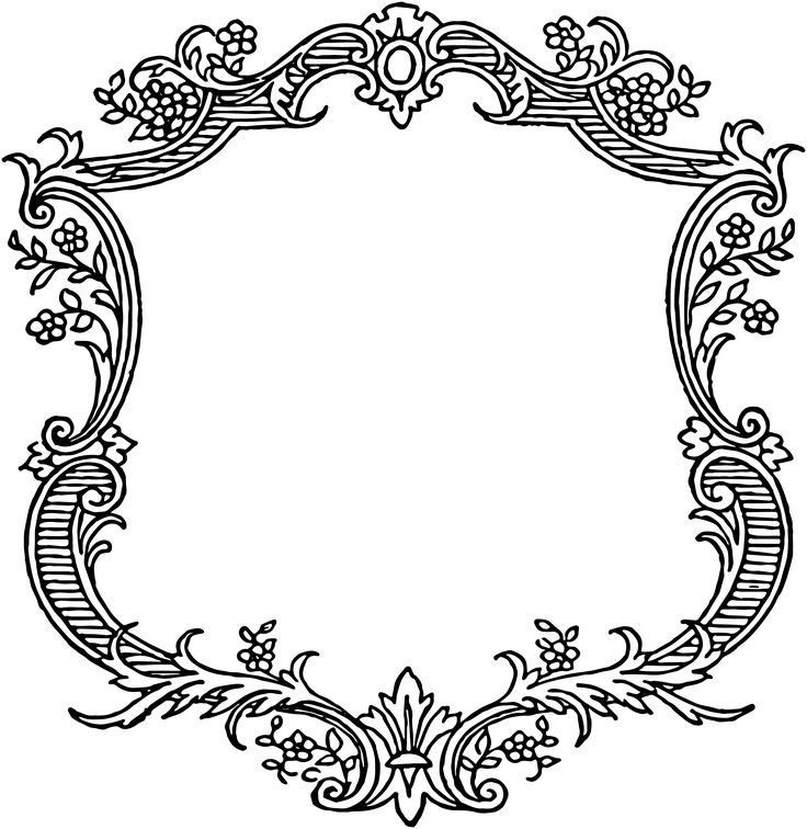 736x756 Classical Clipart Victorian Scroll