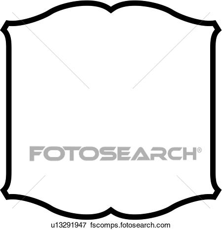 450x467 Clip Art Of , Basic, Blank, Border, Panel, Shapes, Scroll, Sign