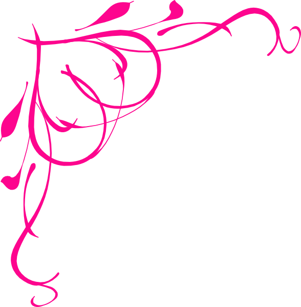 588x599 Free Pink Scroll Clipart