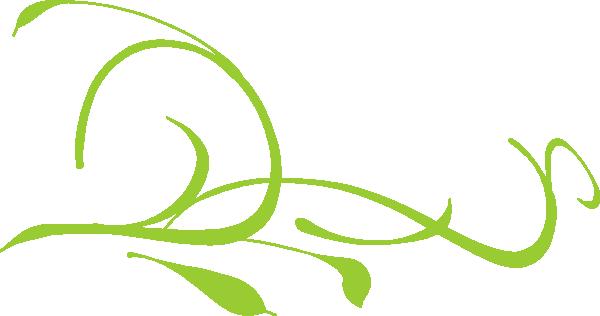600x316 Scroll Floral 7fff00 Green Clip Art