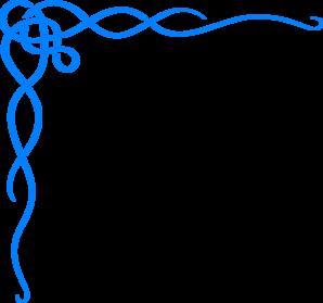 298x279 Blue Scroll Ribbon Border Clip Art