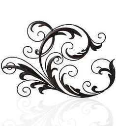 236x256 Digital Clipart Clip Art Flourish Swirls Vintage Fleur De Lis