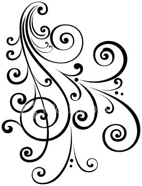 291x380 Fancy Swirl Clip Art