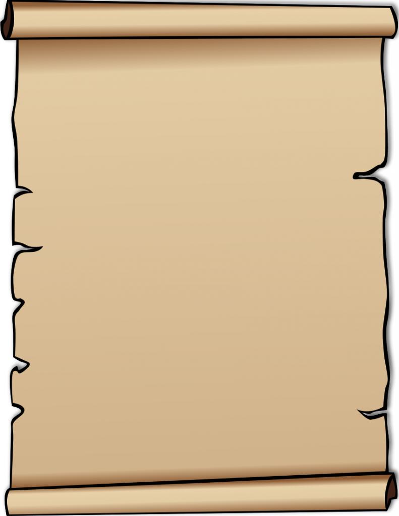 791x1024 Free Clip Art Scroll