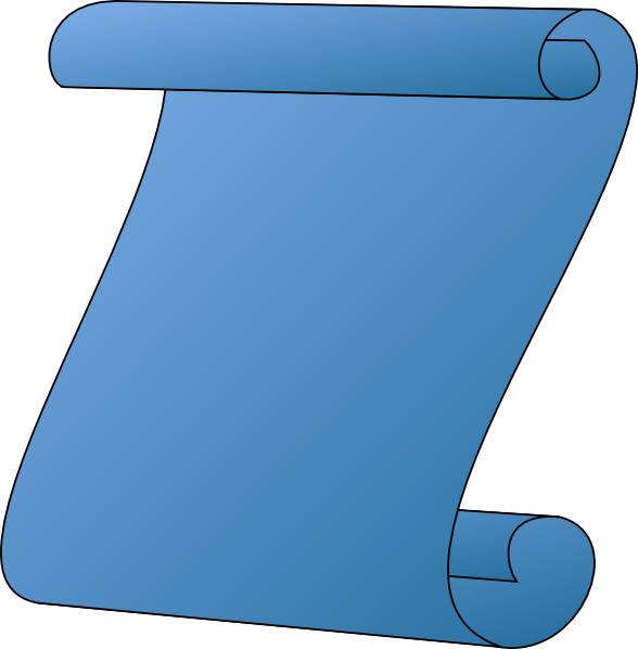 588x598 Scroll Blue Gradient Clip Art