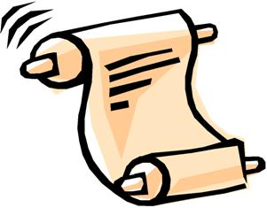 301x235 Poem Clipart Scroll