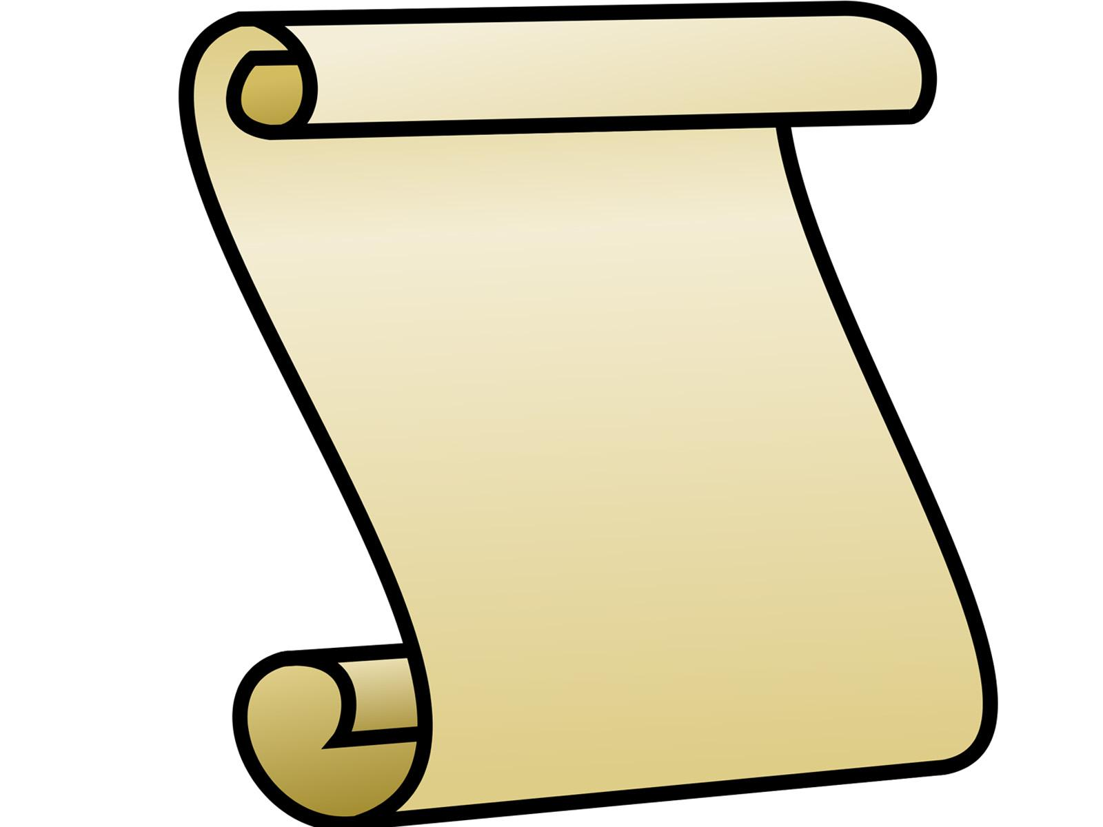 1600x1200 Announcement Scroll Clipart Collection