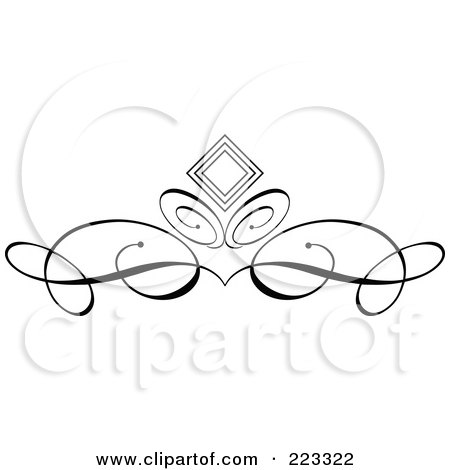 450x470 Royalty Free (Rf) Clipart Illustration Of An Ornamental Black