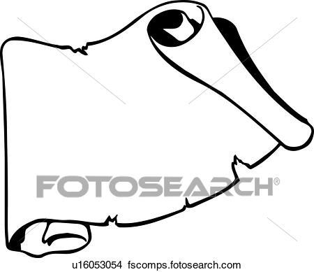 450x389 Clipart Of Design, Element, Ornament, Scroll, Lineart U16053054