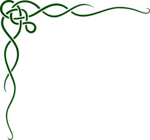 298x279 Green Celtic Scroll Clip Art