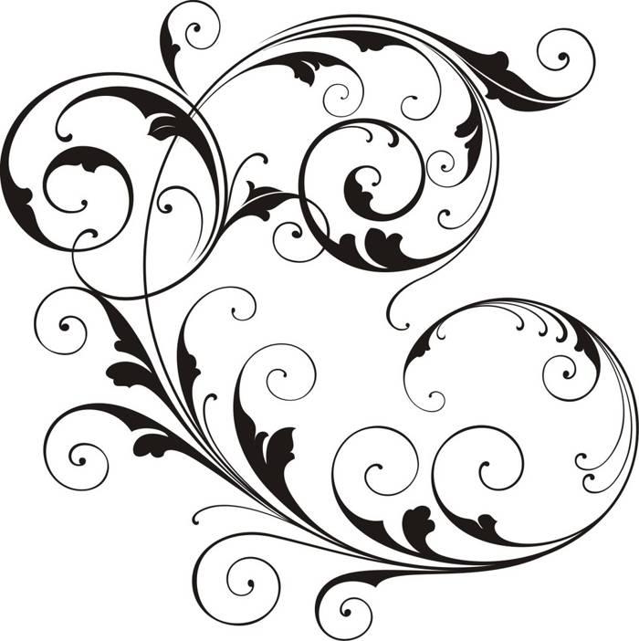 700x702 Scroll Clipart Wedding Logo