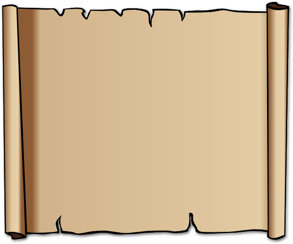 600x500 Clip Art Scroll
