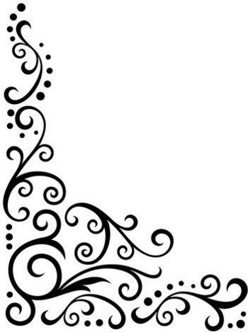 350x469 Clip Art Corner Scrolls Clipart Collection