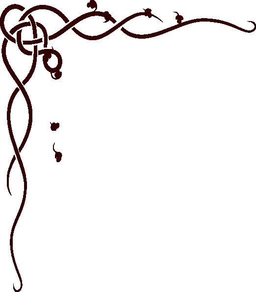 522x596 Corner Scroll Design Clipart Panda