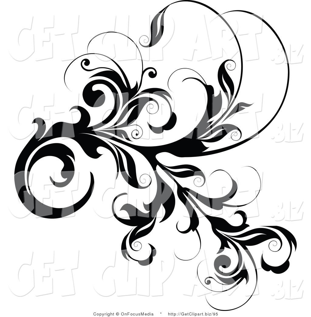 1024x1044 Free Vine Black And White Clipart