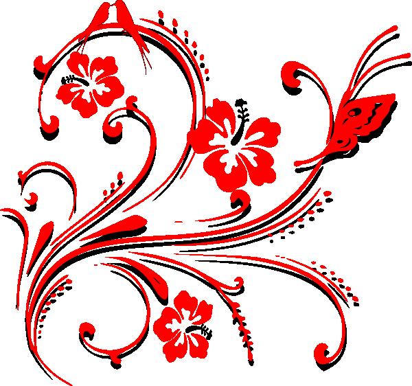 600x562 Butterfly Scroll Clip Art