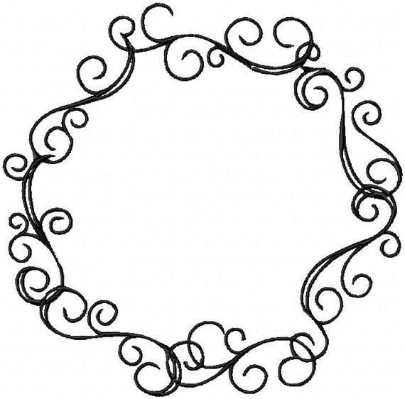 570x562 Circle Scroll Cricut, Machine Embroidery And Embroidery Designs
