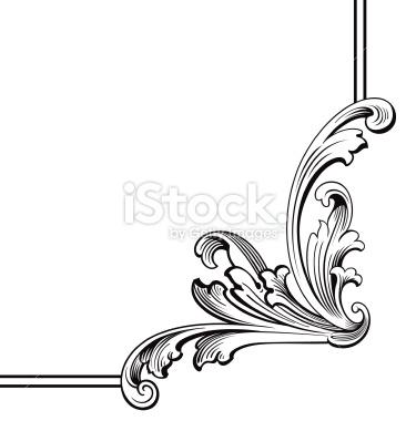 366x380 Corner Scroll Designs Clip Art Free Clipart