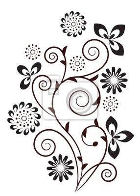 286x399 1207 Best Flowers Silhouettes, Vectors, Clipart, Svg, Templates