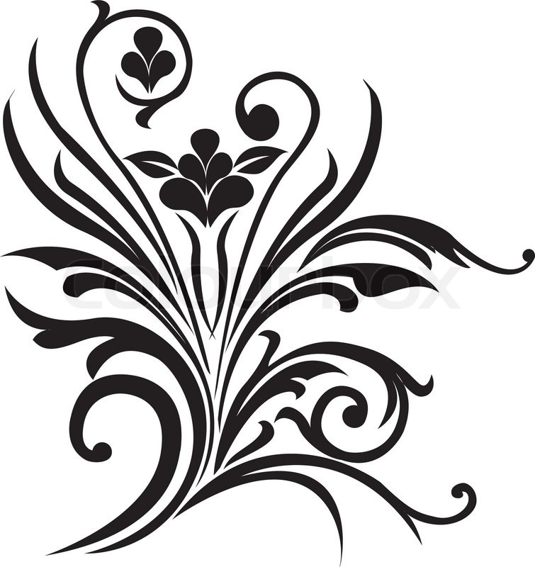 755x800 Fancy Scroll Design Clip Art Clipart