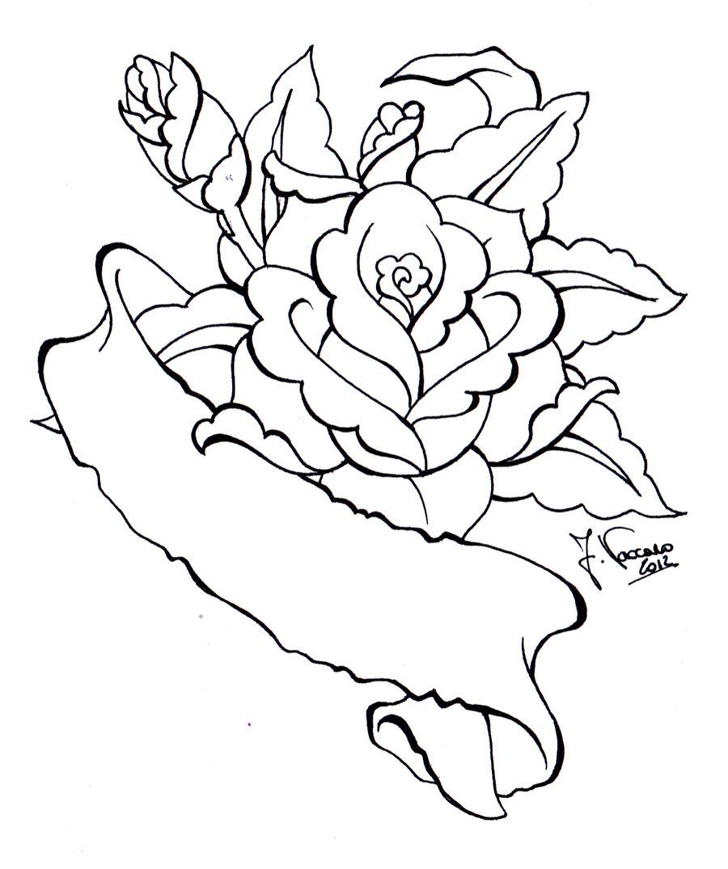 900x1075 Rose Scroll Lineart By Kauniitaunia