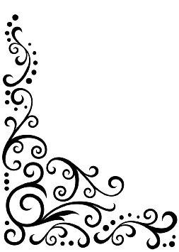 253x355 Simple Corner Scroll Clipart Panda