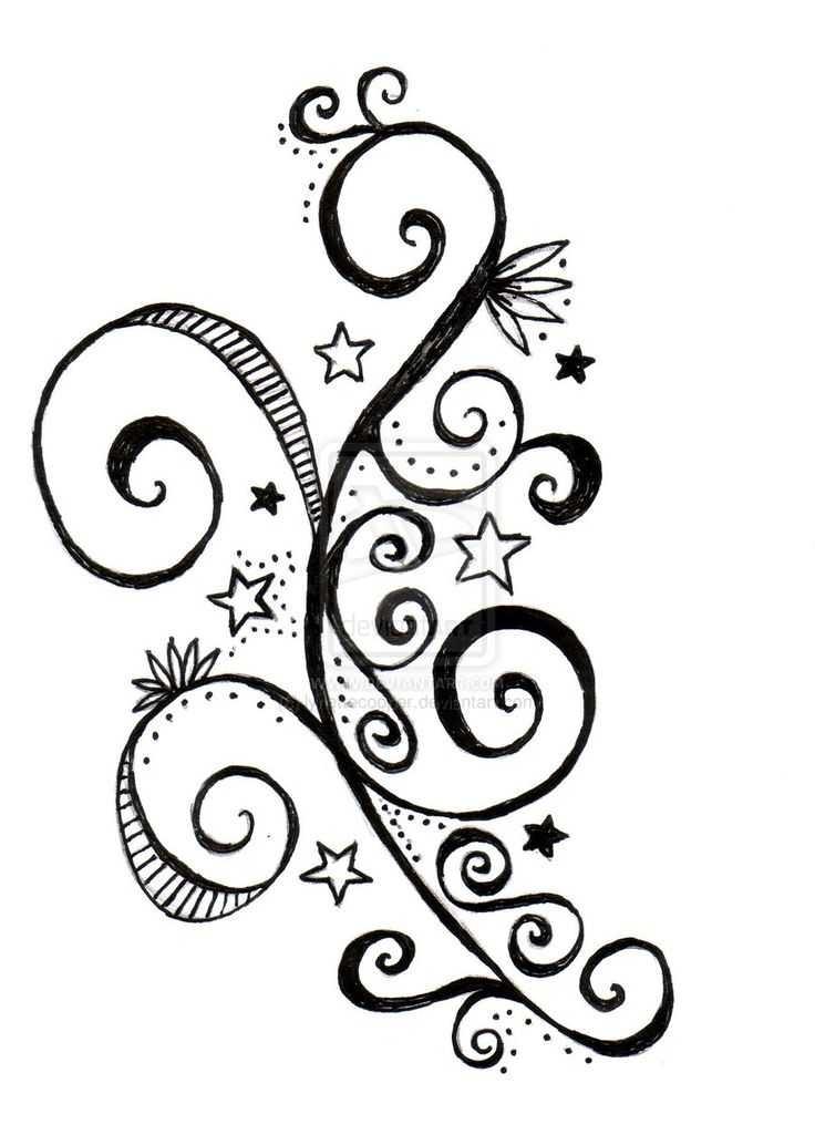 736x1025 Top 10 Flower Swirl Tattoo Designs