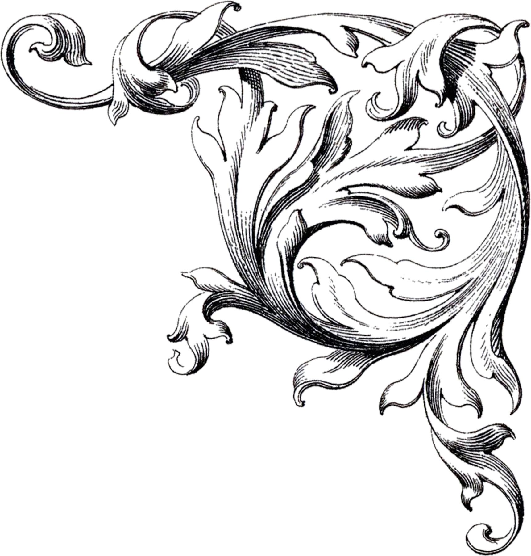 1721x1800 14 Vintage Scroll Designs Images