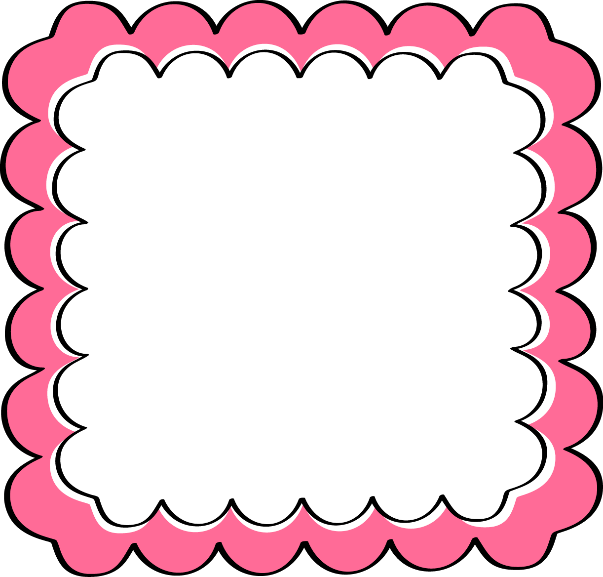 1222x1168 Pink Scalloped Frame