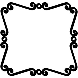 300x300 Scroll Picture Frame Clipart Clipart