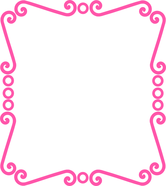 534x598 Scrolly Frame Pink Clip Art