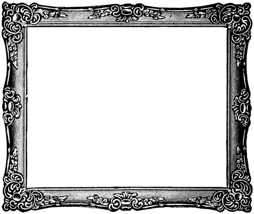 830x701 Black Scroll Frame Clip Art Free Clipart Images 3